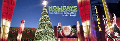 Universal City Walk Christmas Holiday Events 2018